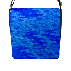 Flowing Fractal Pattern Inspired By Water And Light Flap Messenger Bag (l)