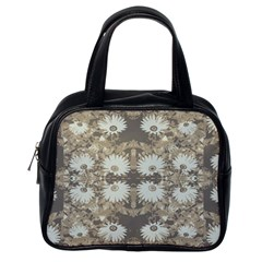 Vintage Daisy Floral Pattern Classic Handbags (one Side)