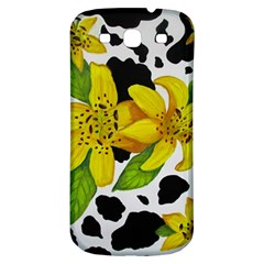 Floral Cow Print Samsung Galaxy S3 S Iii Classic Hardshell Back Case