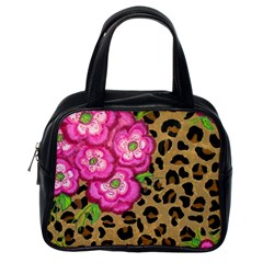Floral Leopard Print Classic Handbags (one Side)