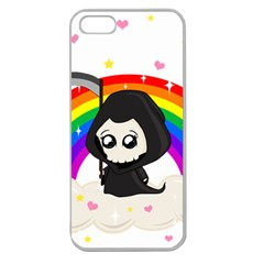 Cute Grim Reaper Apple Seamless Iphone 5 Case (clear)