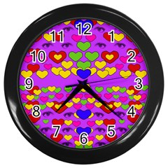 I Love This Lovely Hearty One Wall Clocks (black)