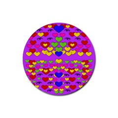 I Love This Lovely Hearty One Rubber Round Coaster (4 Pack)