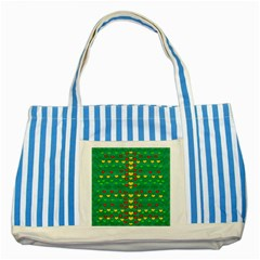 Love Is In All Of Us To Give And Show Striped Blue Tote Bag