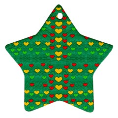 Love Is In All Of Us To Give And Show Star Ornament (two Sides)