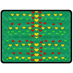 Love Is In All Of Us To Give And Show Fleece Blanket (large)
