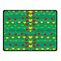 Love Is In All Of Us To Give And Show Fleece Blanket (small)