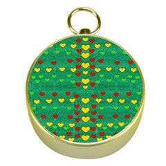 Love Is In All Of Us To Give And Show Gold Compasses
