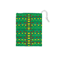 Love Is In All Of Us To Give And Show Drawstring Pouches (small)
