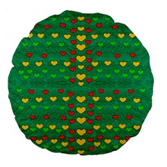 Love Is In All Of Us To Give And Show Large 18  Premium Flano Round Cushions
