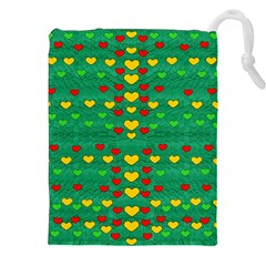Love Is In All Of Us To Give And Show Drawstring Pouches (xxl)
