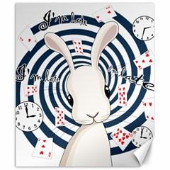 White Rabbit In Wonderland Canvas 20  X 24