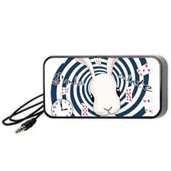 White Rabbit In Wonderland Portable Speaker