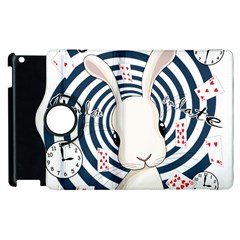 White Rabbit In Wonderland Apple Ipad 3/4 Flip 360 Case