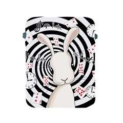 White Rabbit In Wonderland Apple Ipad 2/3/4 Protective Soft Cases