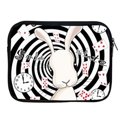 White Rabbit In Wonderland Apple Ipad 2/3/4 Zipper Cases