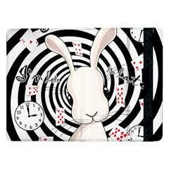 White Rabbit In Wonderland Samsung Galaxy Tab Pro 12 2  Flip Case