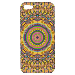 Wood Festive Rainbow Mandala Apple Iphone 5 Hardshell Case