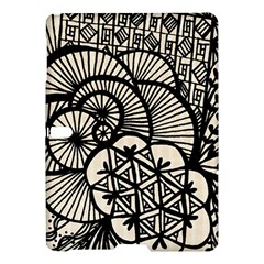 Background Abstract Beige Black Samsung Galaxy Tab S (10 5 ) Hardshell Case