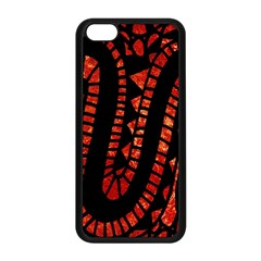 Background Abstract Red Black Apple Iphone 5c Seamless Case (black)