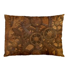 Background Steampunk Gears Grunge Pillow Case