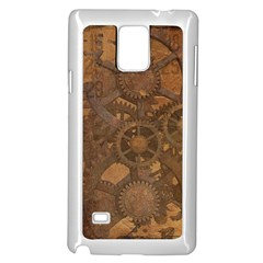 Background Steampunk Gears Grunge Samsung Galaxy Note 4 Case (white)