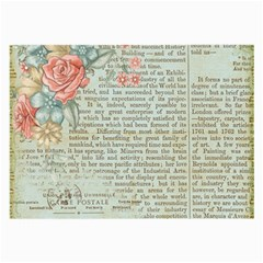 Vintage Floral Background Paper Large Glasses Cloth (2 Side)