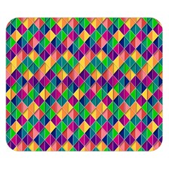 Background Geometric Triangle Double Sided Flano Blanket (small)