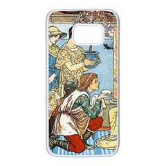 Vintage Princess Prince Old Samsung Galaxy S7 White Seamless Case