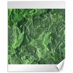Green Geological Surface Background Canvas 11  X 14