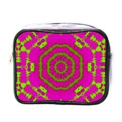Fern Forest Star Mandala Decorative Mini Toiletries Bags