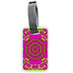 Fern Forest Star Mandala Decorative Luggage Tags (one Side)