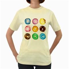Donuts Women s Yellow T Shirt