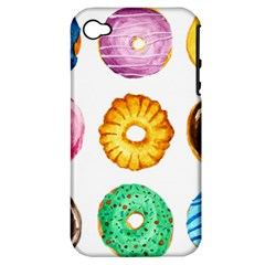 Donuts Apple Iphone 4/4s Hardshell Case (pc+silicone)
