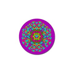 Hearts In A Mandala Scenery Of Fern Golf Ball Marker