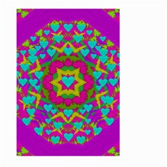 Hearts In A Mandala Scenery Of Fern Large Garden Flag (two Sides)
