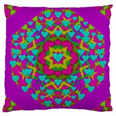 Hearts In A Mandala Scenery Of Fern Large Cushion Case (two Sides)