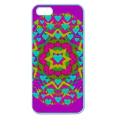 Hearts In A Mandala Scenery Of Fern Apple Seamless Iphone 5 Case (color)