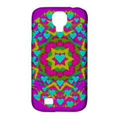 Hearts In A Mandala Scenery Of Fern Samsung Galaxy S4 Classic Hardshell Case (pc+silicone)