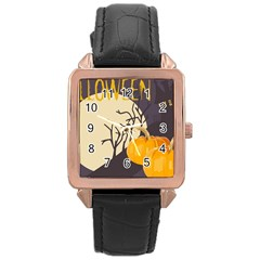 Halloween 979495 1280 Rose Gold Leather Watch
