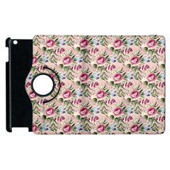 Cute Floral 218a Apple Ipad 3/4 Flip 360 Case