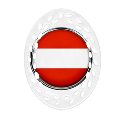 Austria Country Nation Flag Ornament (oval Filigree)