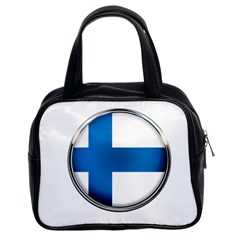 Finland Country Flag Countries Classic Handbags (2 Sides)