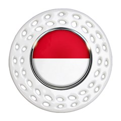 Monaco Or Indonesia Country Nation Nationality Ornament (round Filigree)