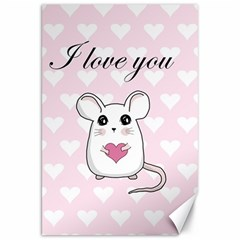 Cute Mouse   Valentines Day Canvas 20  X 30
