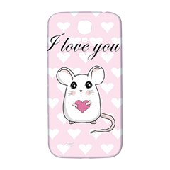 Cute Mouse   Valentines Day Samsung Galaxy S4 I9500/i9505  Hardshell Back Case