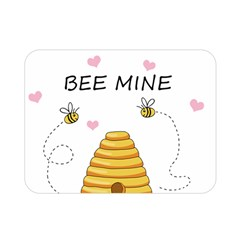 Bee Mine Valentines Day Double Sided Flano Blanket (mini)