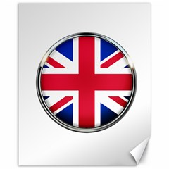 United Kingdom Country Nation Flag Canvas 11  X 14