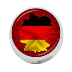Germany Map Flag Country Red Flag 4 Port Usb Hub (two Sides)