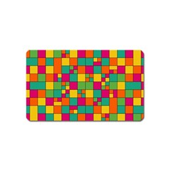 Squares Abstract Background Abstract Magnet (name Card)